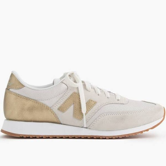 J. Crew New Balance 520 gold sneakers